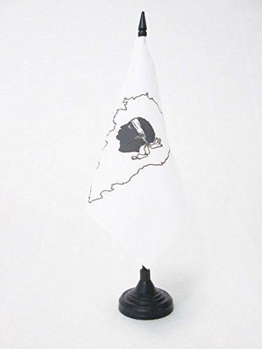 Petit Drapeaux DE Bureau Corsica 15 x 15 cm AZ FLAG Drapeau de Table Corse avec /île 15x15cm