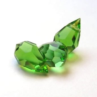 10 pcs Peridot Green Glass Faceted Teardrop Briolette Beads, Top drilled faceted briolette 10mm