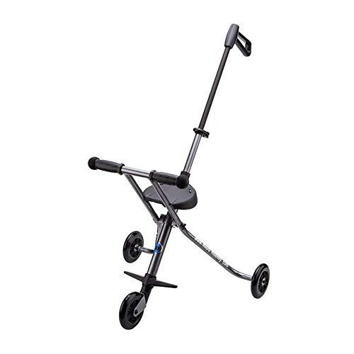 Carrito de bebé, plegable de los niños de tres ruedas ligero coche de bebé se puede tomar a bordo con sistema de seguridad...