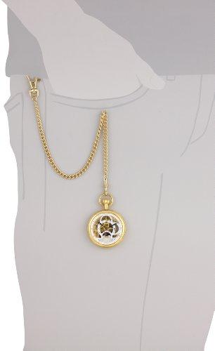 Charles-Hubert-Paris-Gold-Plated-Dual-Time-Mechanical-Pocket-Watch