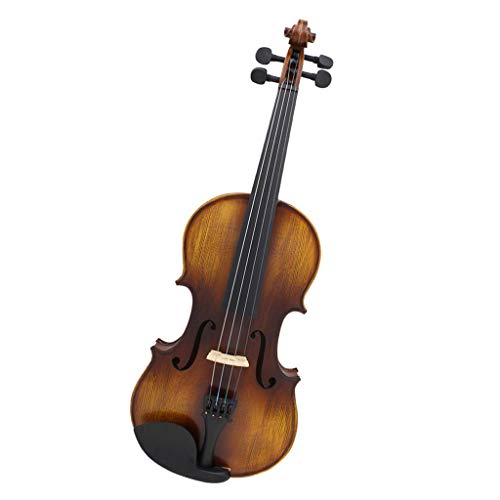 MagiDeal 4/4 Size Solid Wood Violin Set with Rosin Bow Case Sticker for Beginner by non-brand