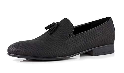Informal Italiano UK Negro Hombre Talla Cordones Zapatos Oficina Vestido Borla sin Jas Elegante Cómodo aZ1xqXwSES