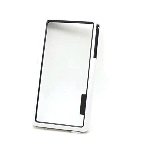 Coromose Dual-color Soft TPU Frame Bumper Case for Sony Xperia Z3 Mini (White)