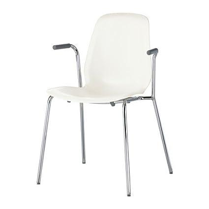 IKEA Leif arne Colour blanco sillón de mimbre; De metal ...