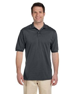 Jerzees+50%2F50+Men%27s+5.6+oz.+Jersey+Polo+with+Spotshield+%28Charcoal+Grey%2C+Large%29