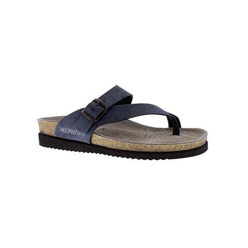 Mephisto Helen Ladies Toe-Post Mule Sandal Sandalbuck Navy 9t7FH