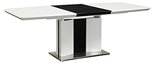 Coaster 120941-CO Broderick Contemporary Dining Table, White/Chrome For Sale