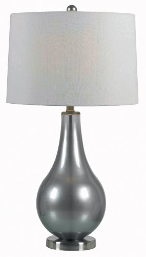 Kenroy Home 32043MP Teardrop Table (Contemporary Pewter Table Lamp)