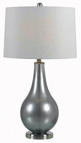 Kenroy Home 32043MP Teardrop Table Lamp (Pewter Table Billiard)