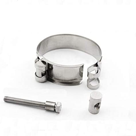 LITAO-XIE, Lt-spring, 5pcs 304 Stainless Steel Strengthen Circular Pipe Clamp Air Water Tube Clips Water Pipe Fasteners Fuel Hose Clamps (Size : Used for 188 200mm)