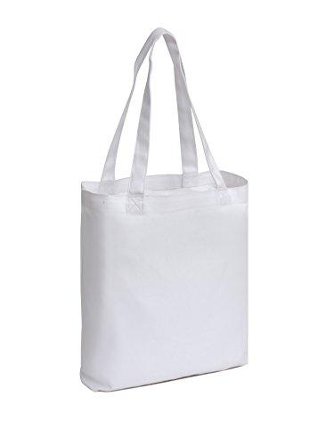 62ceeaded2 White Canvas Bag. Medium White Tote Bag 14x13x3