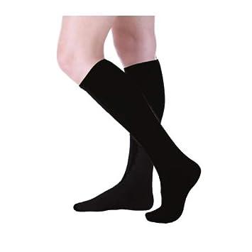 9f8770040 3-Pack Women s Buster Brown Elastic-Free Cotton Knee High Socks Black Sock  Size