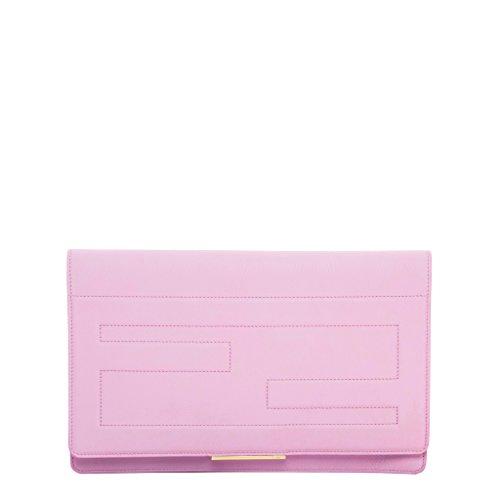 Fendi-Womens-Tube-Macro-Clutch-Pink