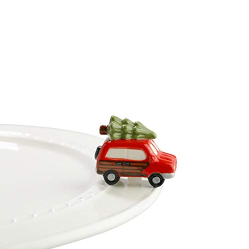 Nora Fleming Hand-Painted Mini: Just Like the Griswolds (Woody Van with Tree) A147 (Serving Christmas Dishes)