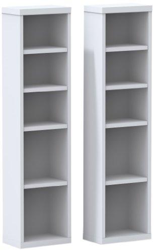 Liber-T CD/DVD Towers (2) 211003 from Nexera, White