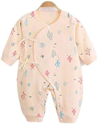 Berryqueen Light Peach 0-3 months infant body suit pure cotton handmade & designed in USA. By Moms and for new moms.