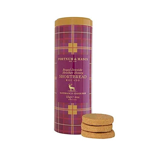 Fortnum & Mason British, Fortnum's Royal Deeside Heather Honey Shortbread Rounds, 125g, (1 Pack) - NEW - USA Stock