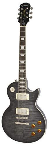 Epiphone Les Paul Standard Plustop PRO Electric Guitar, Trans Black (Epiphone Artist)