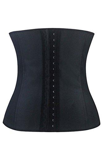 Pink Queen Womens Steel Boned Latex Waist Trainer Cincher Shapewear XXXL Black