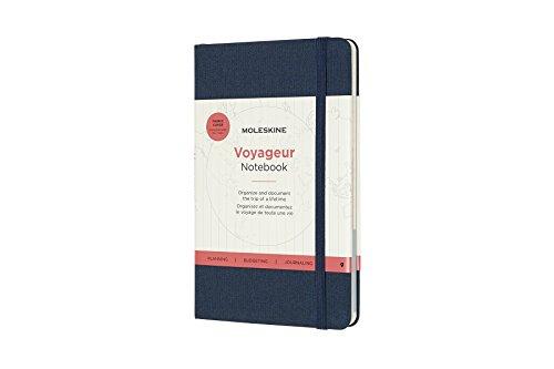 Moleskine Voyageur Hard Cover Notebook, Mixed (Ruled-Plain-Dotted), Medium (4.5