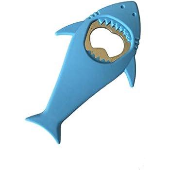 L & H Household Cool Shark bottle Opener Silicone Stainless Steel Beer Bottle Opener Shark Refrigerator Magnet 4.8