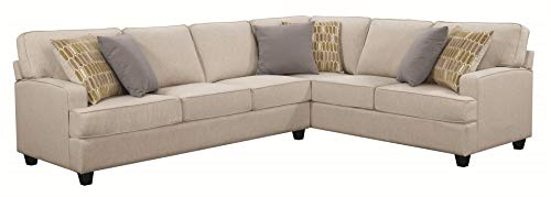 Scott Living Emmett Sectional with Track Arms Linen