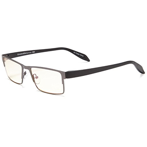 GAMMA RAY 009 Professional Style Eye Strain Relief Computer Glasses Anti Harmful Blue Light Anti Glare UV400 for Monitor Screens - With 1.50x - Video Sunglasses Game