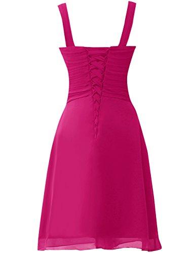 Dell'abito Caldo Da Semplice Rosa Partito Vestito Jaeden Promenade Piega Abito Di Chiffon Corto D'onore Damigella XwSxSg6qP0