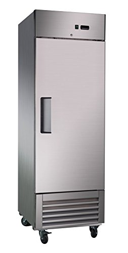 Sybo 24 Cubic Feet Stainless Steel Heavy Duty Reach-In Commercial Refrigerator,Holds Temperature Between 31°F and 40°F for Restaurants