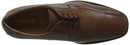 Geox U Federico W, Zapatos de Cordones Derby para Hombre Marrón (Dk Cognacc6026)