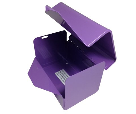 S.A.C IC1000RLV Powder Coated Steel Sanitary Napkin Disposal Bag Dispenser with Lock, 5-1/4'' Length x 5-1/8'' Width x 3-1/2'' Height, Lavender