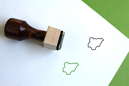 Nigeria Map Rubber Stamp (2.5