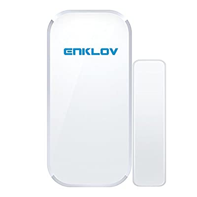 ENKLOV Wireless Door/Window Contact Sensor for W1 Home Alarm System Kit
