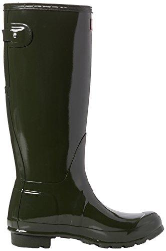 Hunter Org Back Adjust Glos, Stivali di Gomma Unisex Adulto Verde (Dark Olive)