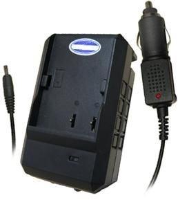 Konica Minolta DiMAGE E40, E50 - Replacement Battery Charger (Incl. Car Plug Adapter) (Konica Minolta Replacement Battery)