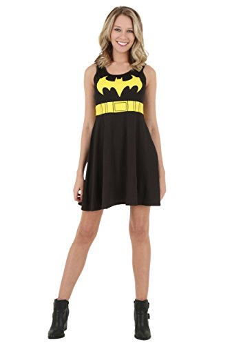 Batman Logo A-Line Black Dress L -
