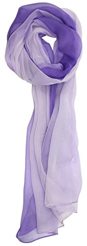 Ted and Jack - Silk Ombre Lightweight Accent Scarf in Purples (Purple Viscose)