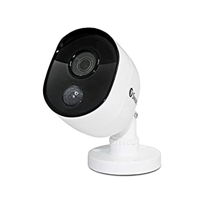Swann SWPRO-1080MSB-US 1080P PIR Motion Sensors and 100' of Night Vision Add on Bullet Camera, White