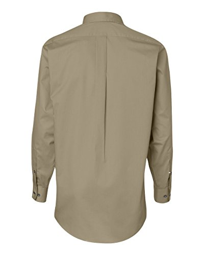 Van Heusen Regular Fit Twill Solid Button Down Collar Dress Shirt, Sandstone, Large (Shirt Twill Sandstone)