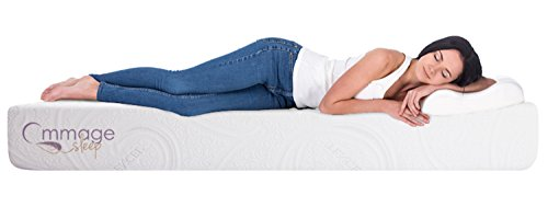 Ommage Sleep Best Latex Mattress for Therapeutic Sleep with Total Ethereal Sensation, Cradle Comfort, Hypoallergenic, Antibacterial, Anti-Fungal, 100% Natural Organic, 8 inch, Twin(Cal King)