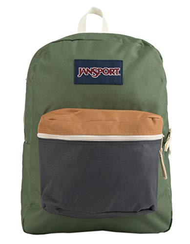 JanSport Unisex Exposed Muted Green/Soft Tan One Size (Green Jansport Backpack)