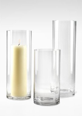 Heavyweight Glass Cylinders (6IN D X 18IN (Post Vintage Vase)