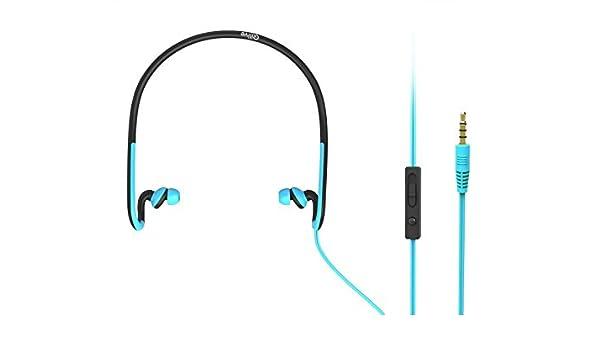 Qilive 863297 Dentro de oído Binaural Alámbrico Negro, Azul: Amazon ...
