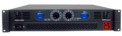 Mr. Dj PROA3000 PRO Series Power Dj Amplifier with 2 Channels and 3000 Watts Peak Momentary Power Output