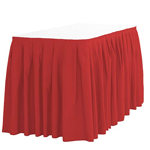 LinenTablecloth 14 ft. Accordion Pleat Polyester Table Skirt