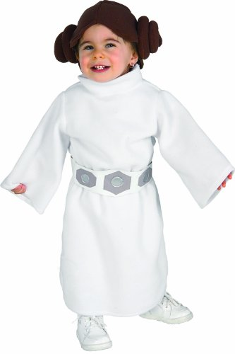 [Rubie's Costume Star Wars Princess Leia Romper, White, 1-2 years] (Princess Costumes For Babies)