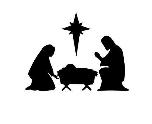 Nativity Manger Scene, Vinyl Nativity Scene, Vinyl Christmas Decoration, Vinyl Manger Decal, Christmas Decal, Vinyl Nativity Scene, Baby is Born, Christ is Born