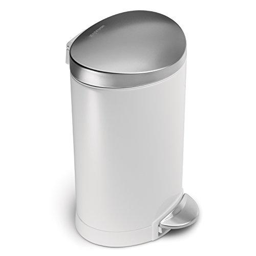 white simplehuman trash can - 2