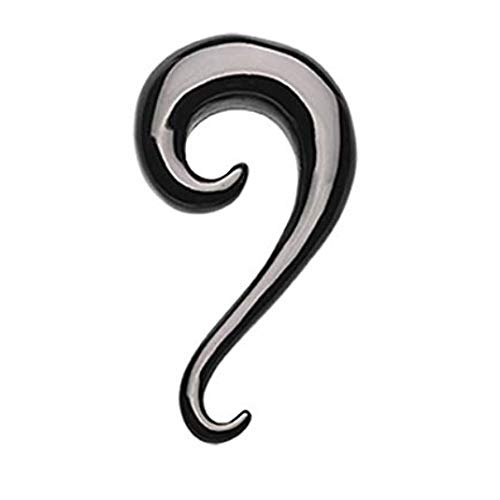 Inspiration Dezigns Blackline Swirl Claw Hook Ear Gauge Hanging Tapers - Sold as a Pair (0G) by Inspiration Dezigns