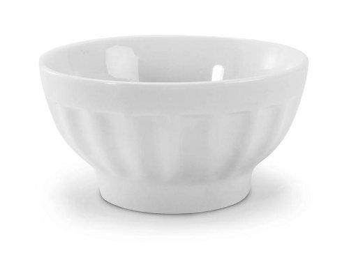 BIA Cordon Bleu White Porcelain 16 ounce Café au Lait Bowl, Set of 6 (Soup Bleu)